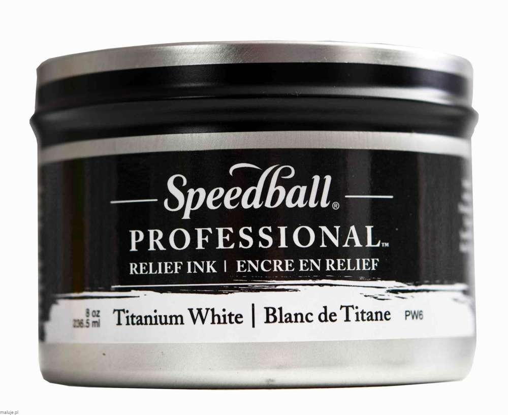 Speedball Professional Relief Ink Titanium White - farba graficzna