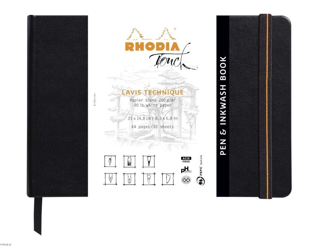 Rhodia Touch PEN&INKWASH Book 200g 32ark. - blok do kaligrafii