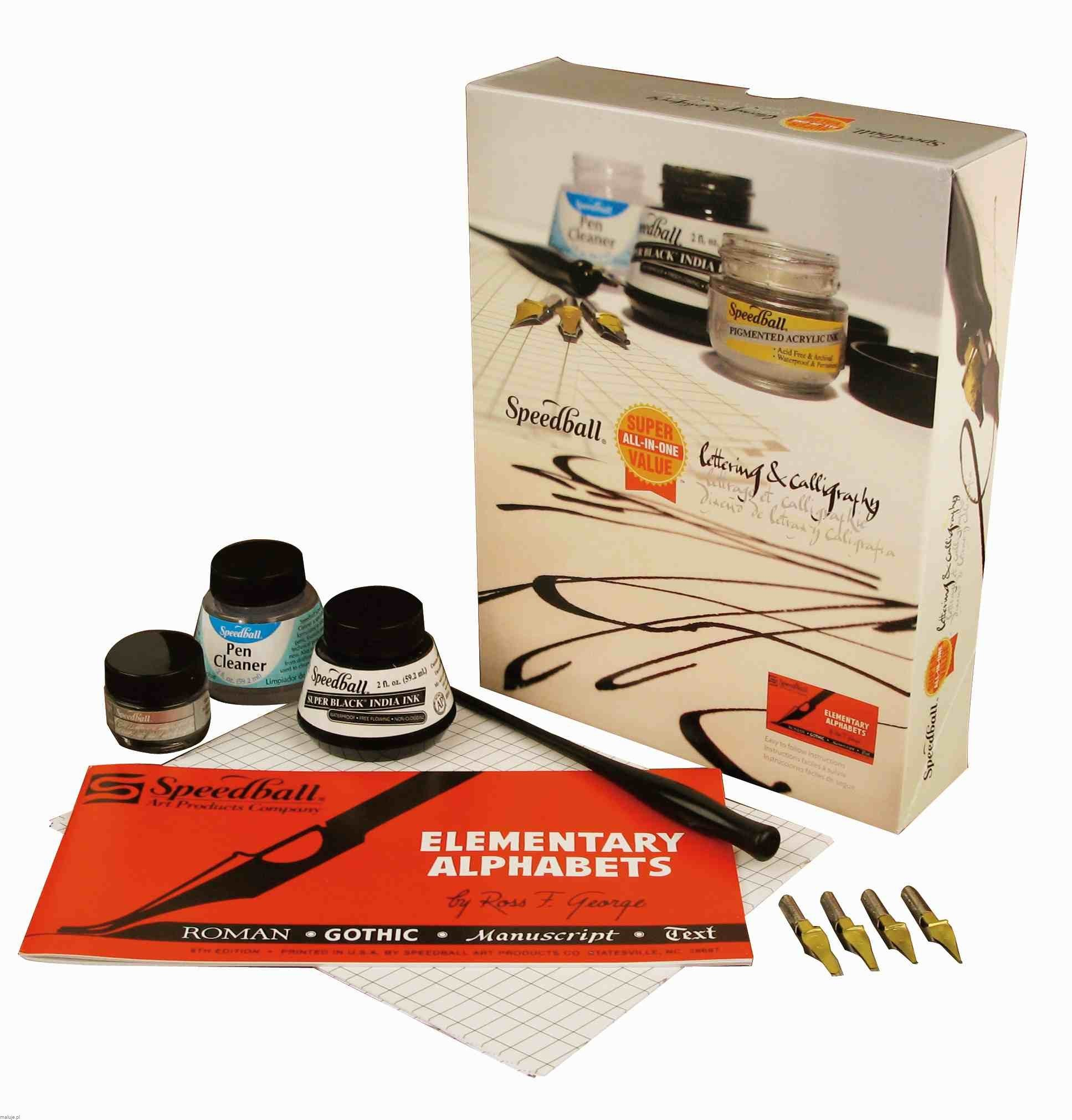 "Speedball Zestaw do kaligrafii ""Super Value Lettering&Calligraphy Kit"""