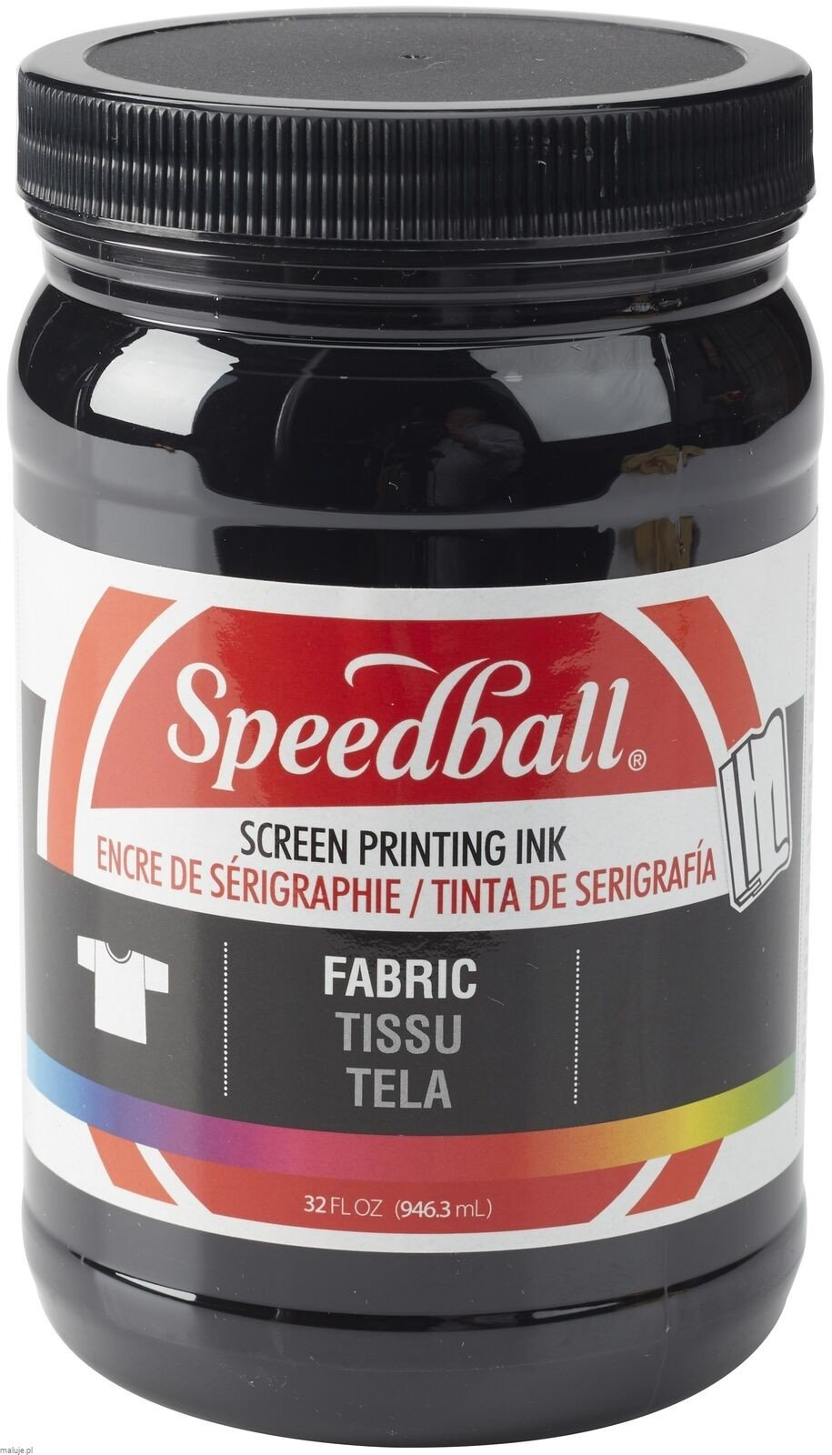 Speedball Fabric Screen Printing Ink BLACK - farba do sitodruku na tkaninach