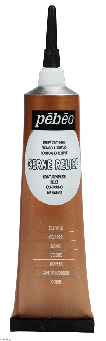 Relief Outliner 20 ml COPPER - konturówka do szkła i ceramiki