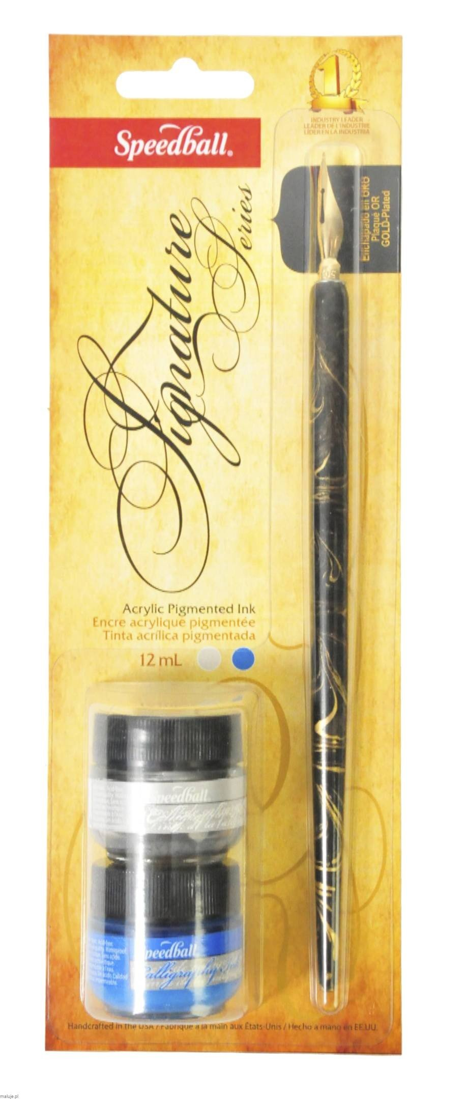Speedball Zestaw do kaligrafii Signature Blue & Silver Ink