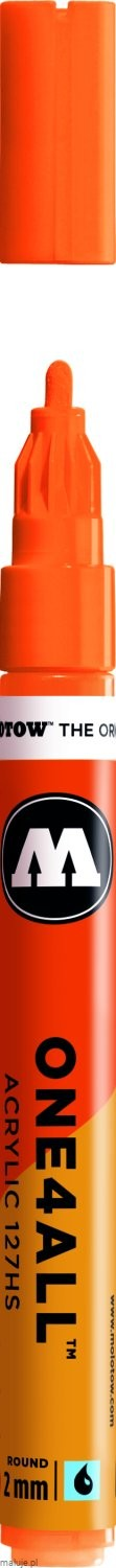 Molotow ONE4ALL 127HS 218 neon orange fluorescent 2mm - marker akrylowy