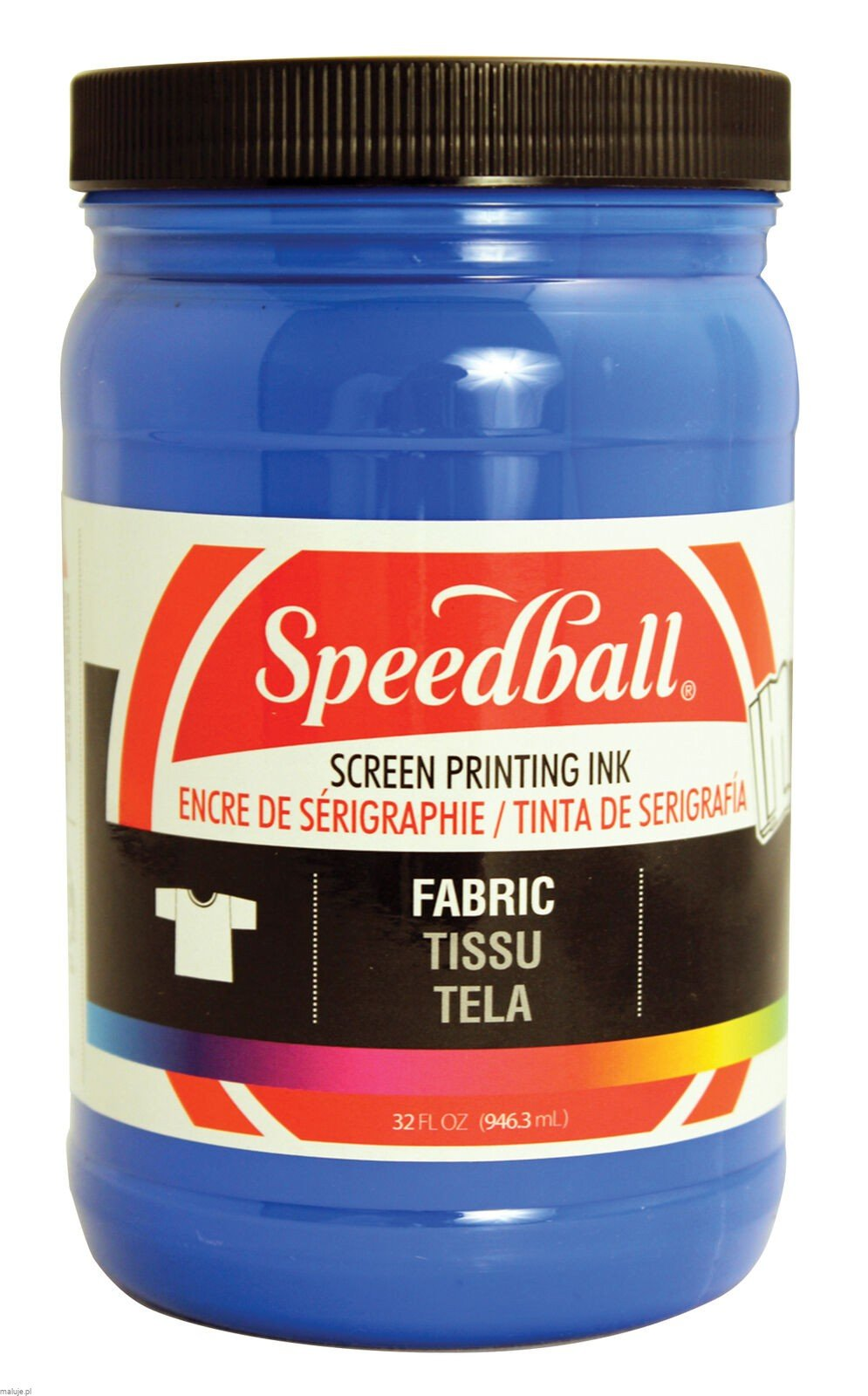 Speedball Fabric Screen Printing Ink BLUE - farba do sitodruku na tkaninach