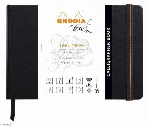 Rhodia Touch CALLIGRAPHER Book 130g 32ark. - blok do kaligrafii z papierem Simili Japan