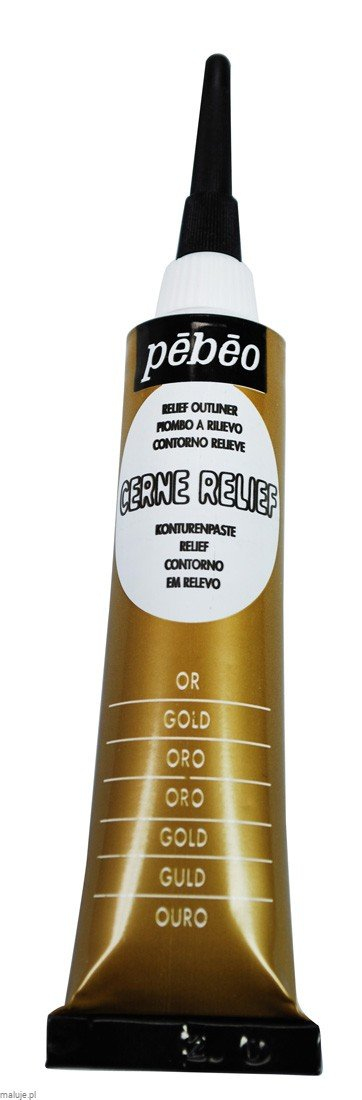 Relief Outliner 20 ml GOLD - konturówka do szkła i ceramiki