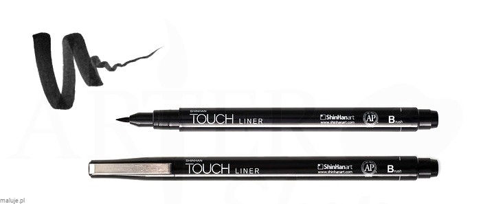 Touch Liner Brush BLACK - pisak pędzelkowy