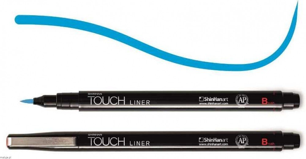 Touch Liner Brush BLUE - pisak pędzelkowy