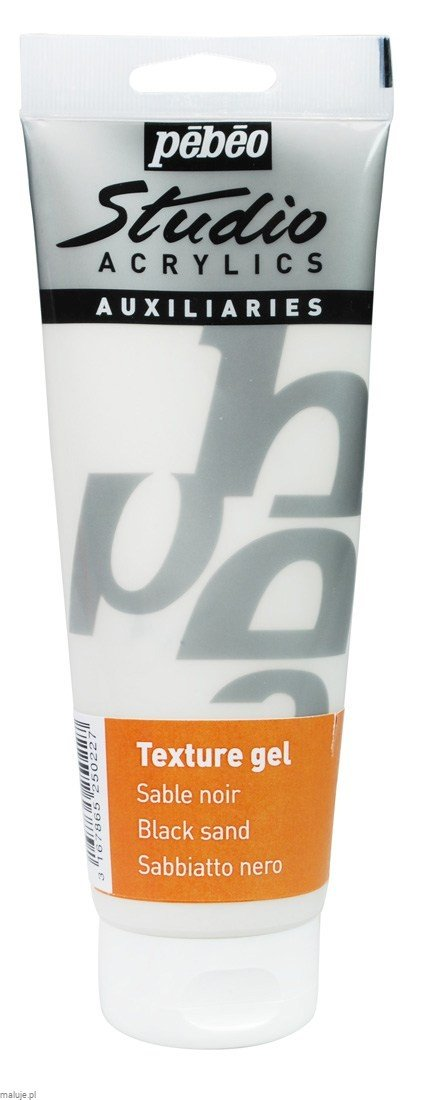 Studio Acrylic Texture Gel Black Sand - medium teksturujące