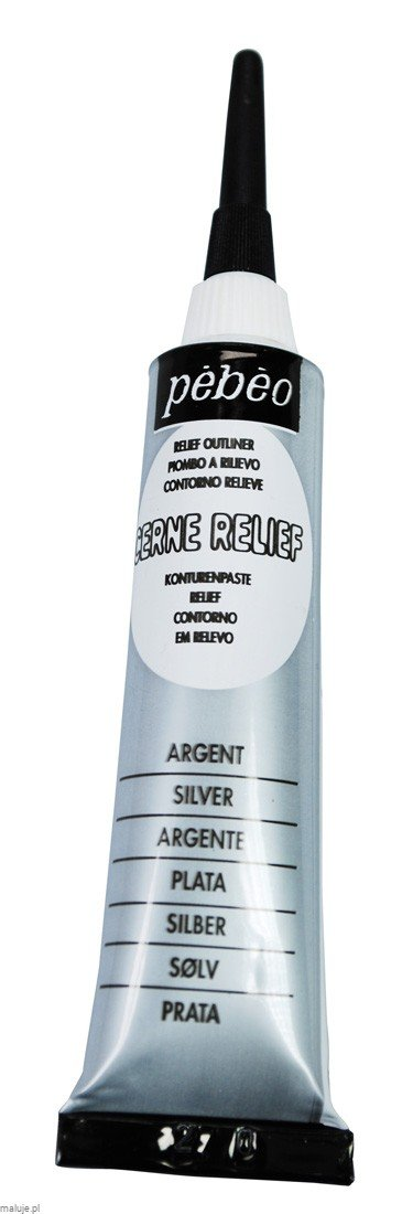 Relief Outliner 20 ml SILVER - konturówka do szkła i ceramiki