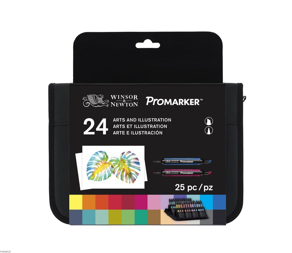ProMarker Arts and Illustration Set - komplet 24 markerów + etui