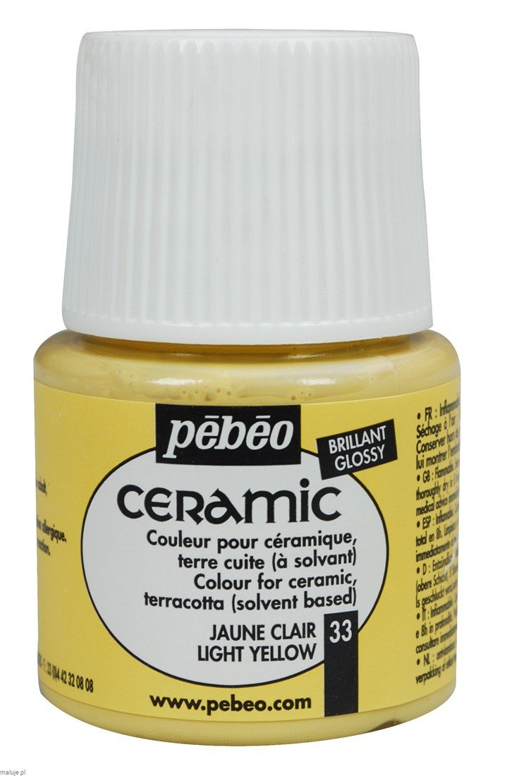 Ceramic 33 LIGHT YELLOW - farba do ceramiki