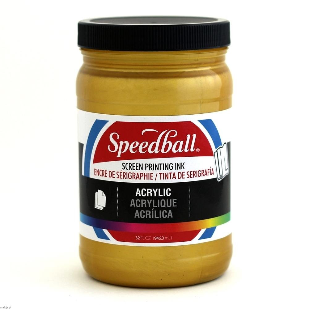 Speedball Acrylic Screen Printing Ink GOLD - akrylowa farba do sitodruku