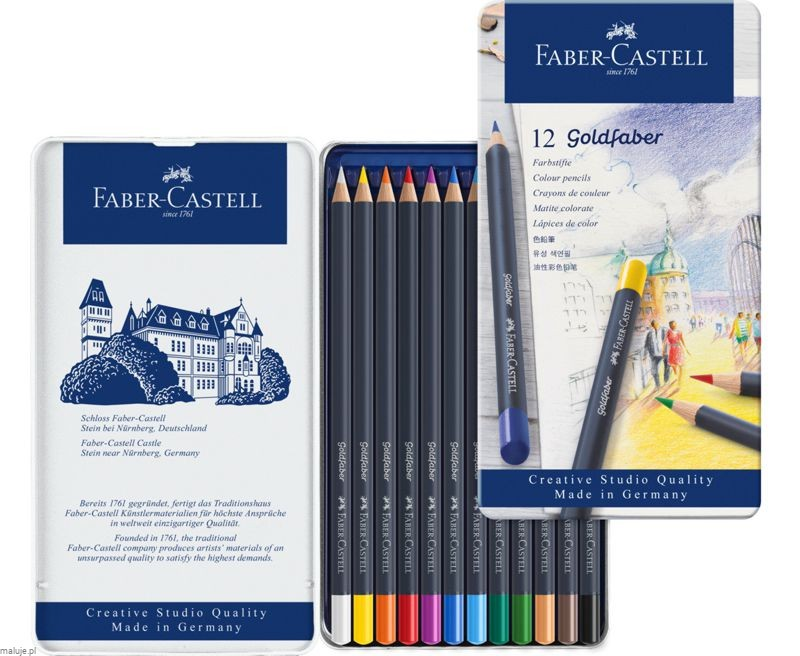 GOLDFABER Colour Pencils 12 kolorów - komplet kredek