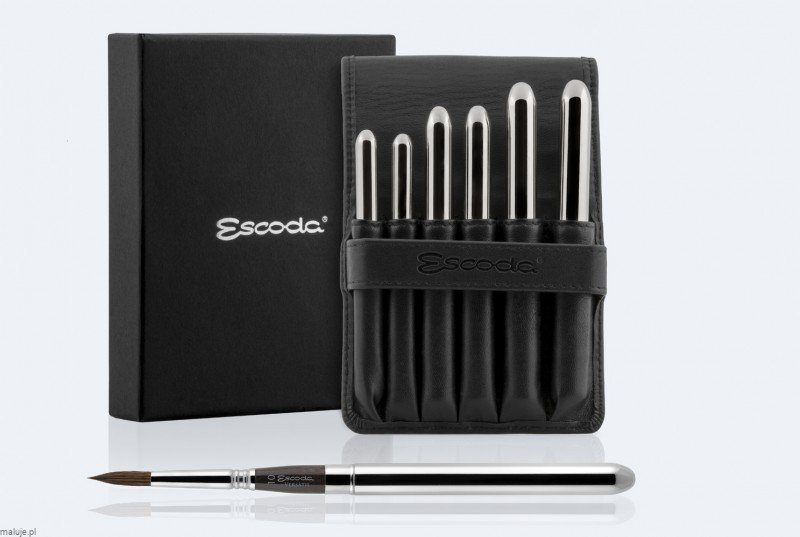 Pędzle Escoda VERSATIL  s.1548  Travel Set - komplet 6 pędzli
