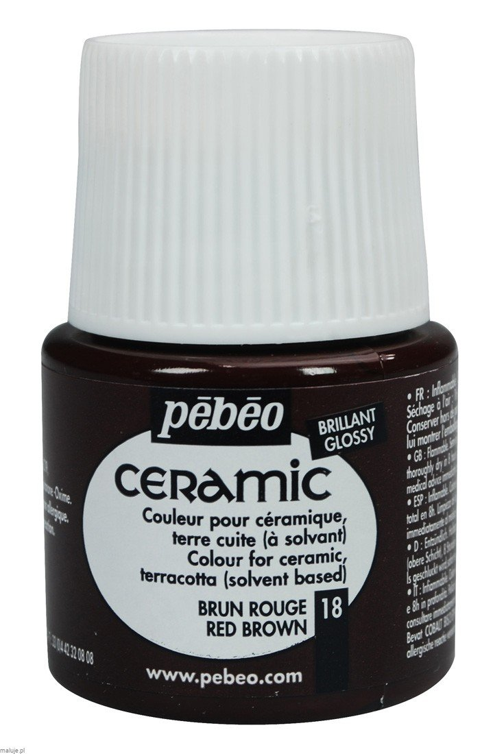 Ceramic 18 RED BROWN - farba do ceramiki