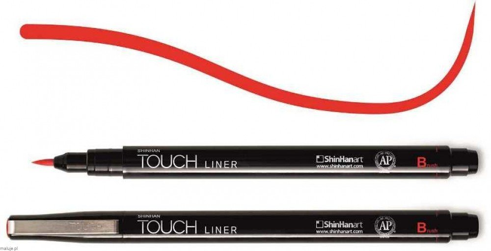 Touch Liner Brush RED - pisak pędzelkowy
