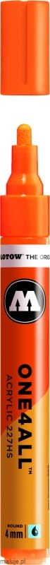 Molotow ONE4ALL 227HS 218 neon orange fluorescent 4mm - marker akrylowy