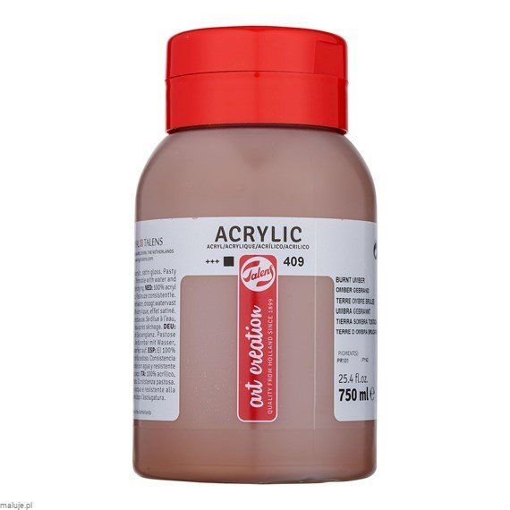 Farba akrylowa Art Creation Acrylic Burnt Umber 750ml
