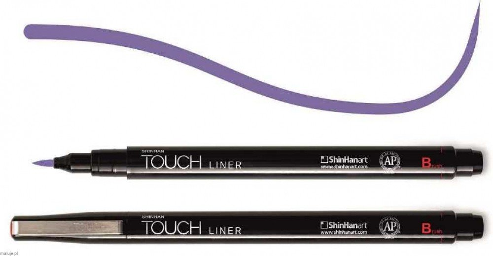 Touch Liner Brush PURPLE - pisak pędzelkowy