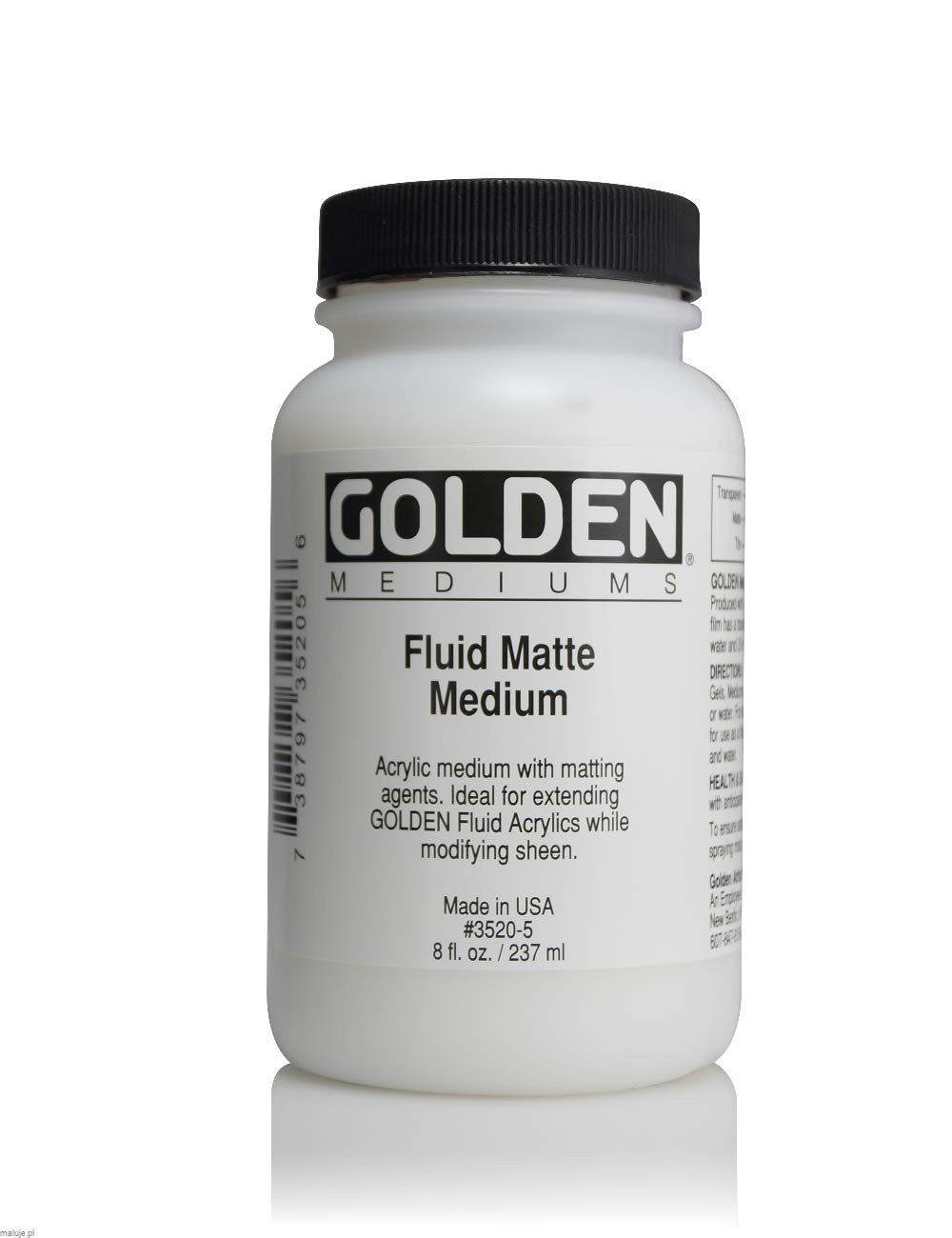 Golden Fluid Matte Medium Matowe