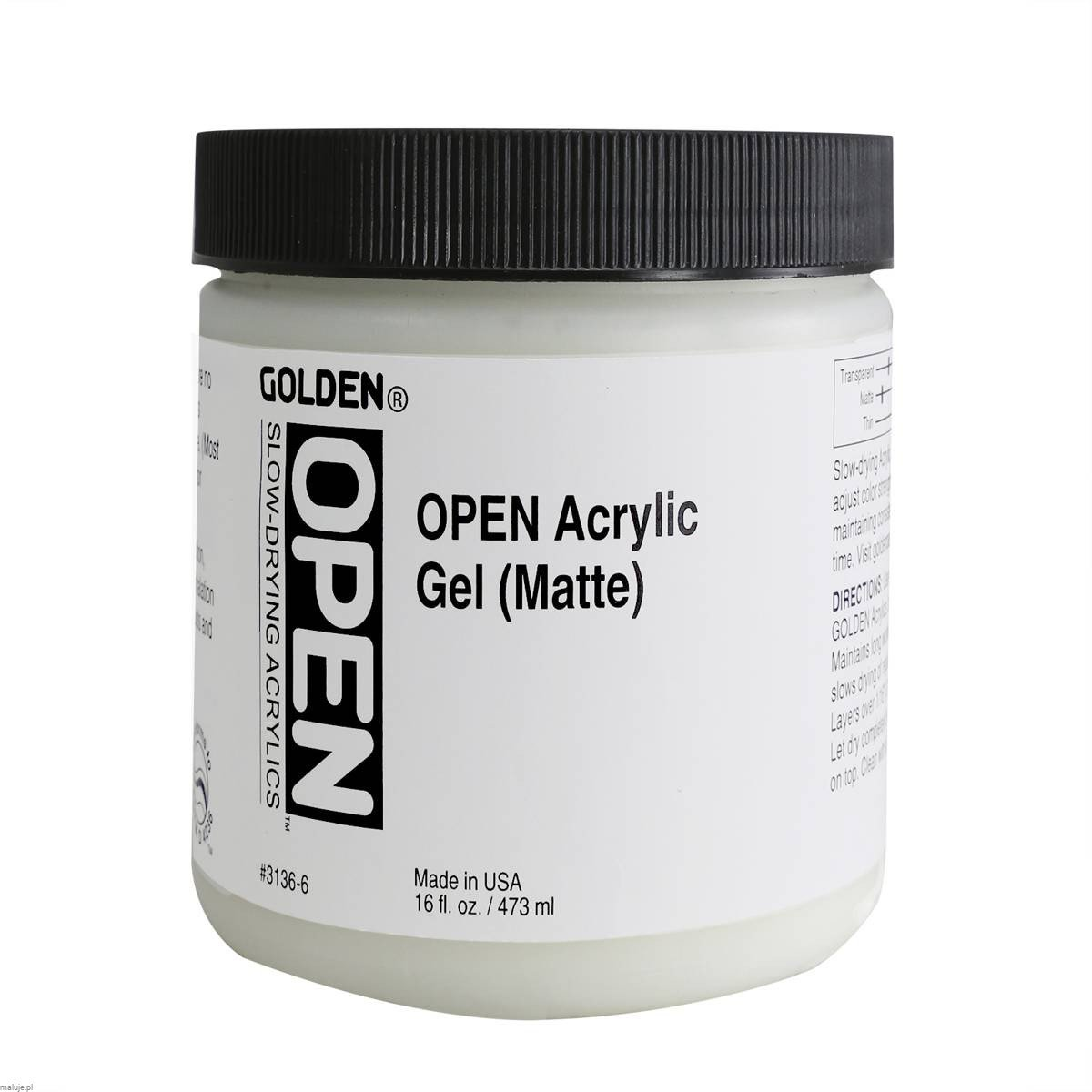 Golden OPEN Acrylic Gel Matowy