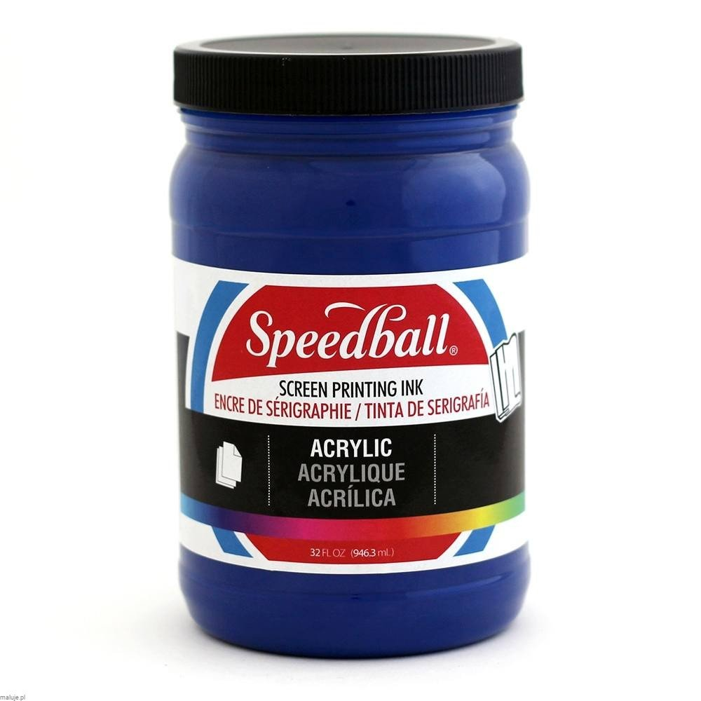Speedball Acrylic Screen Printing Ink ULTRAMAINE BLUE - akrylowa farba do sitodruku