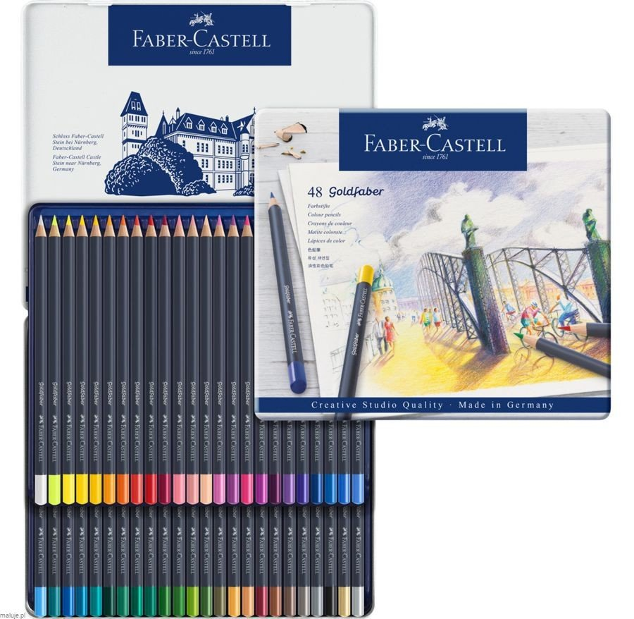 GOLDFABER Colour Pencils 48 kolorów - komplet kredek