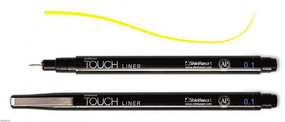 Touch Liner 0,1 mm YELLOW - cienkopis