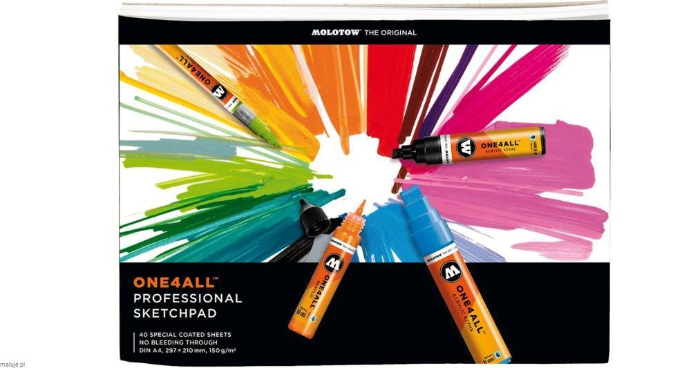 Molotow One4All Professional ArtPad 150g 40ark - blok do markerów