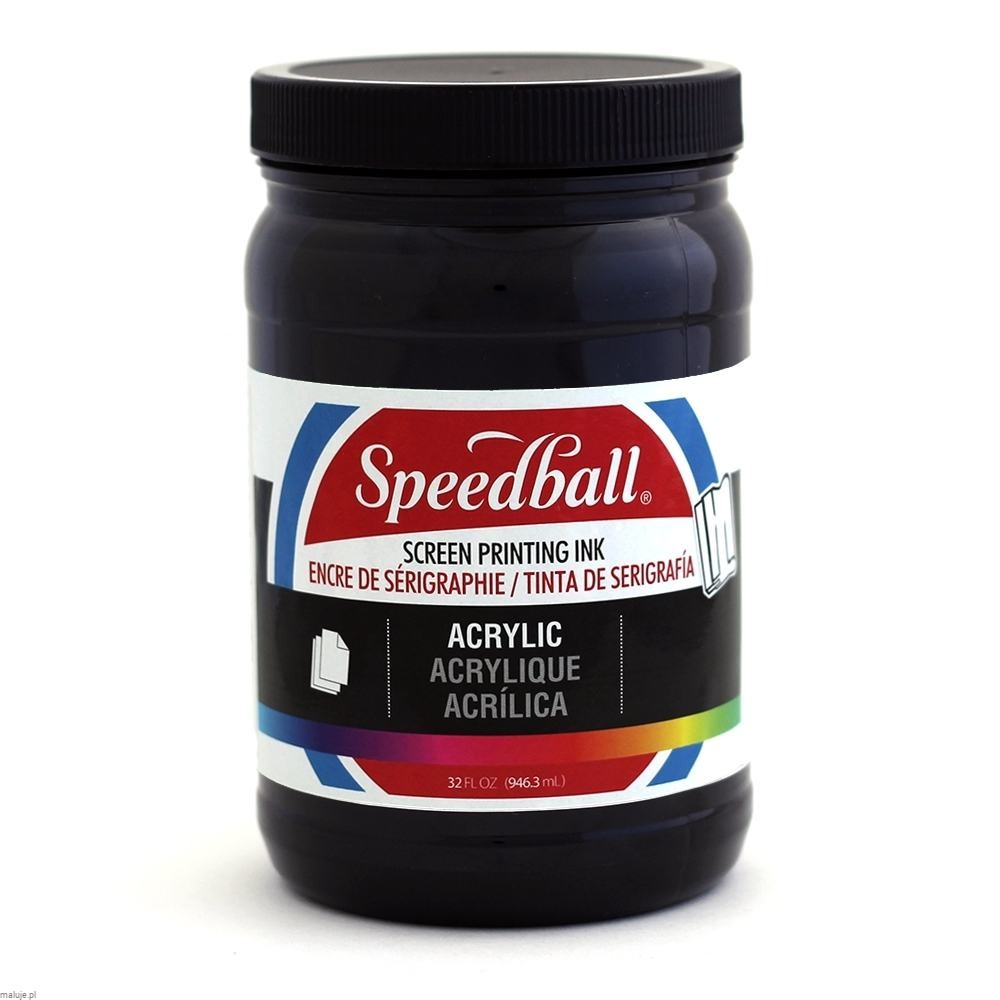 Speedball Acrylic Screen Printing Ink BLACK - akrylowa farba do sitodruku