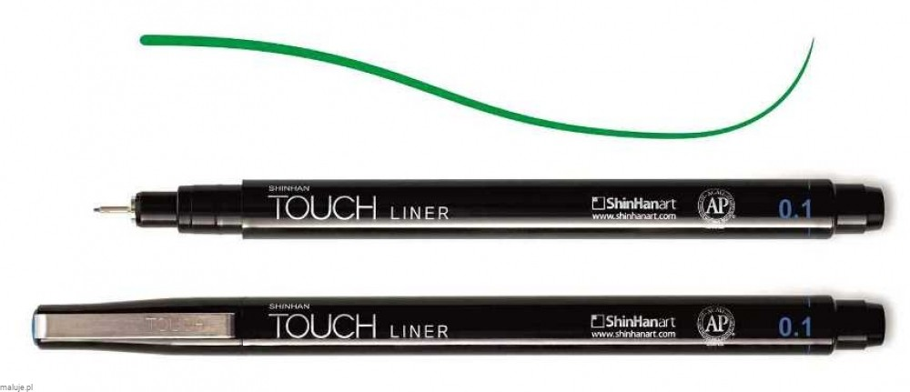 Touch Liner 0,1 mm GREEN - cienkopis