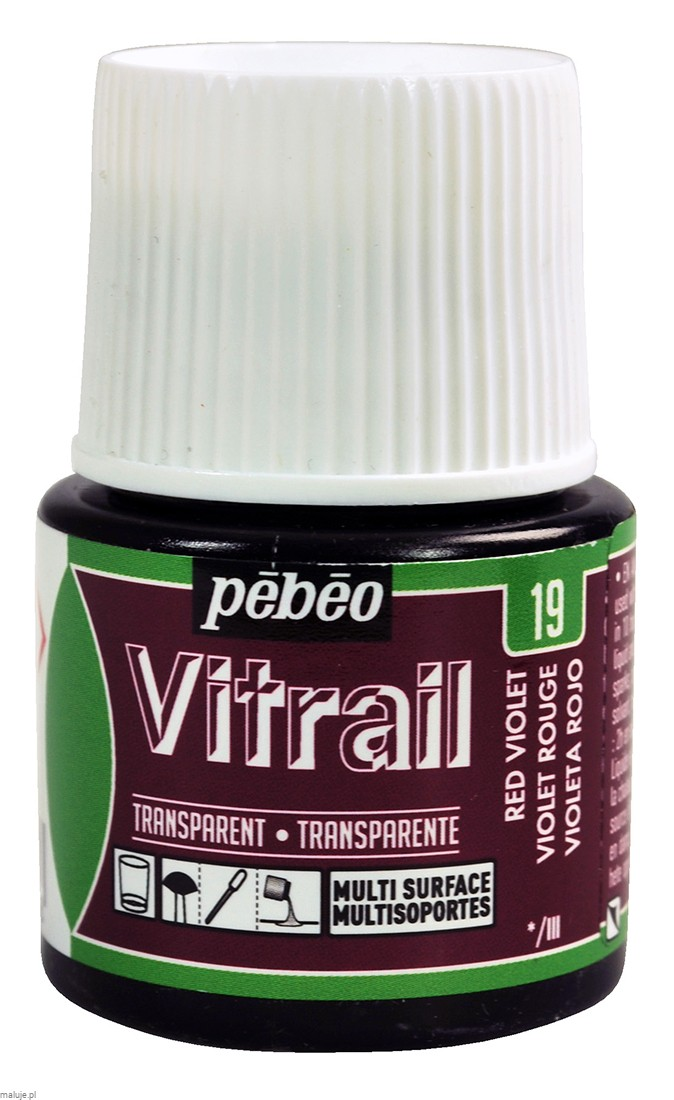 Vitrail Transparent 19 RED VIOLET