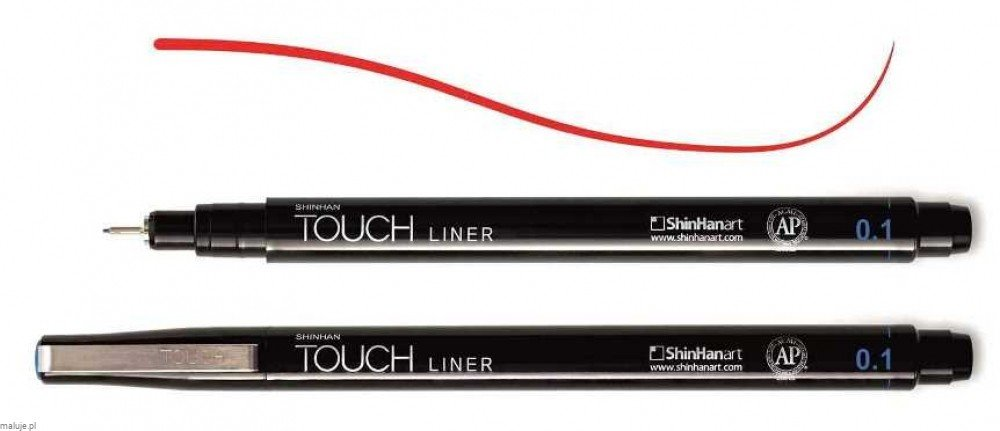 Touch Liner 0,1 mm RED - cienkopis