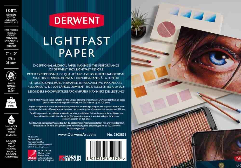 Derwent Lightfast Paper HP 300g 20ark - blok do kredek Lightfast