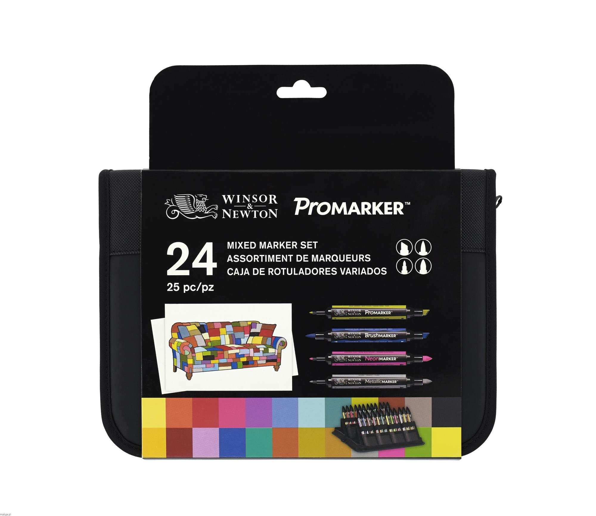 Miexed Media Marker Set - komplet 24 markerów + etui