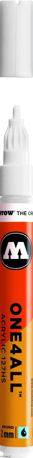 Molotow ONE4ALL 127HS 160 signal white 2mm - marker akrylowy