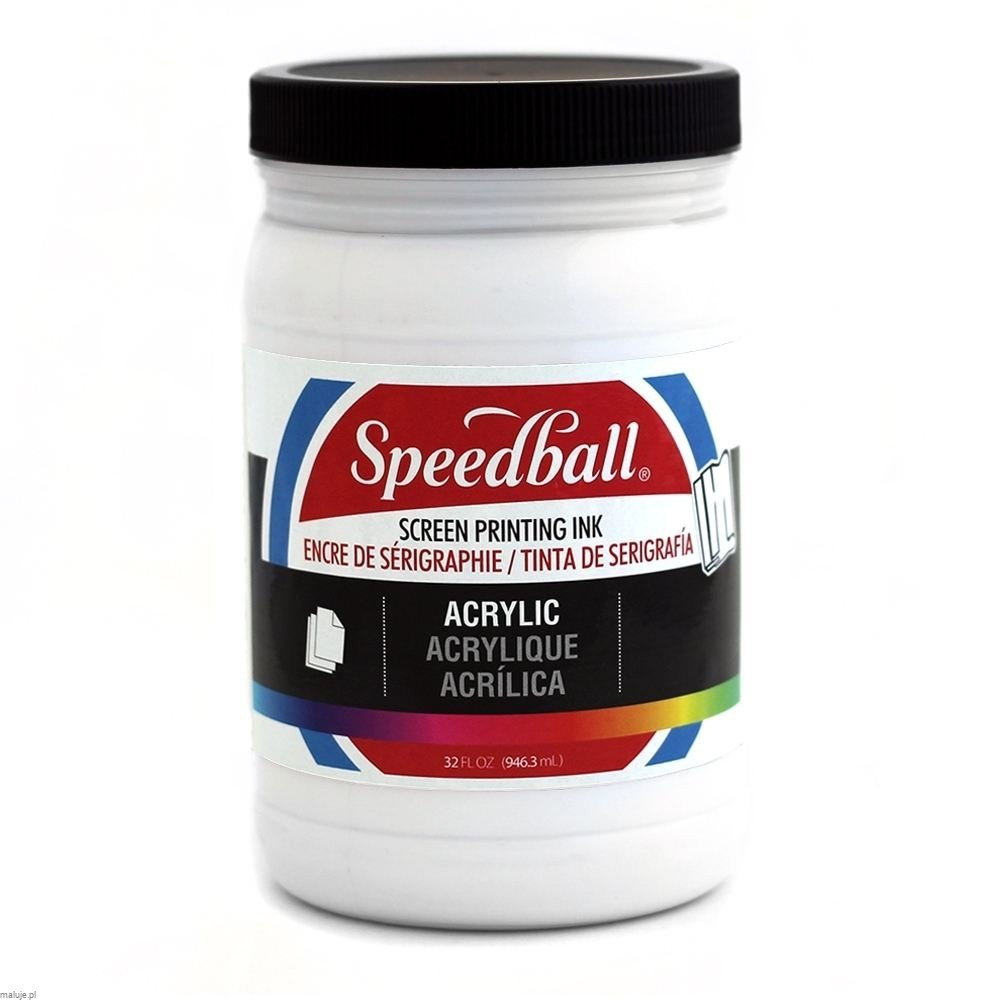Speedball Acrylic Screen Printing Ink WHITE - akrylowa farba do sitodruku
