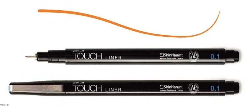 Touch Liner 0,1 mm ORANGE - cienkopis
