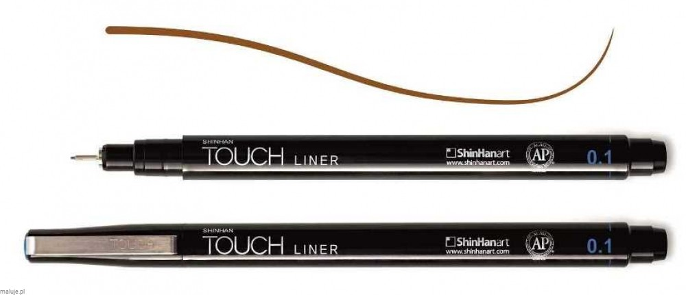 Touch Liner 0,1 mm BROWN - cienkopis