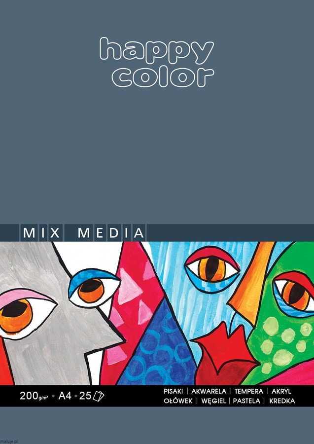 Happy Color Mix Media 200g 25 ark - blok do technik mieszanych