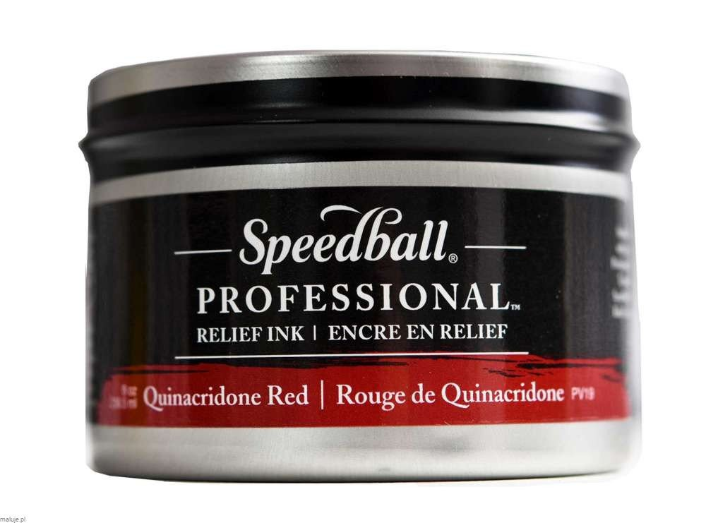 Speedball Professional Relief Ink Quinacridone Red - farba graficzna