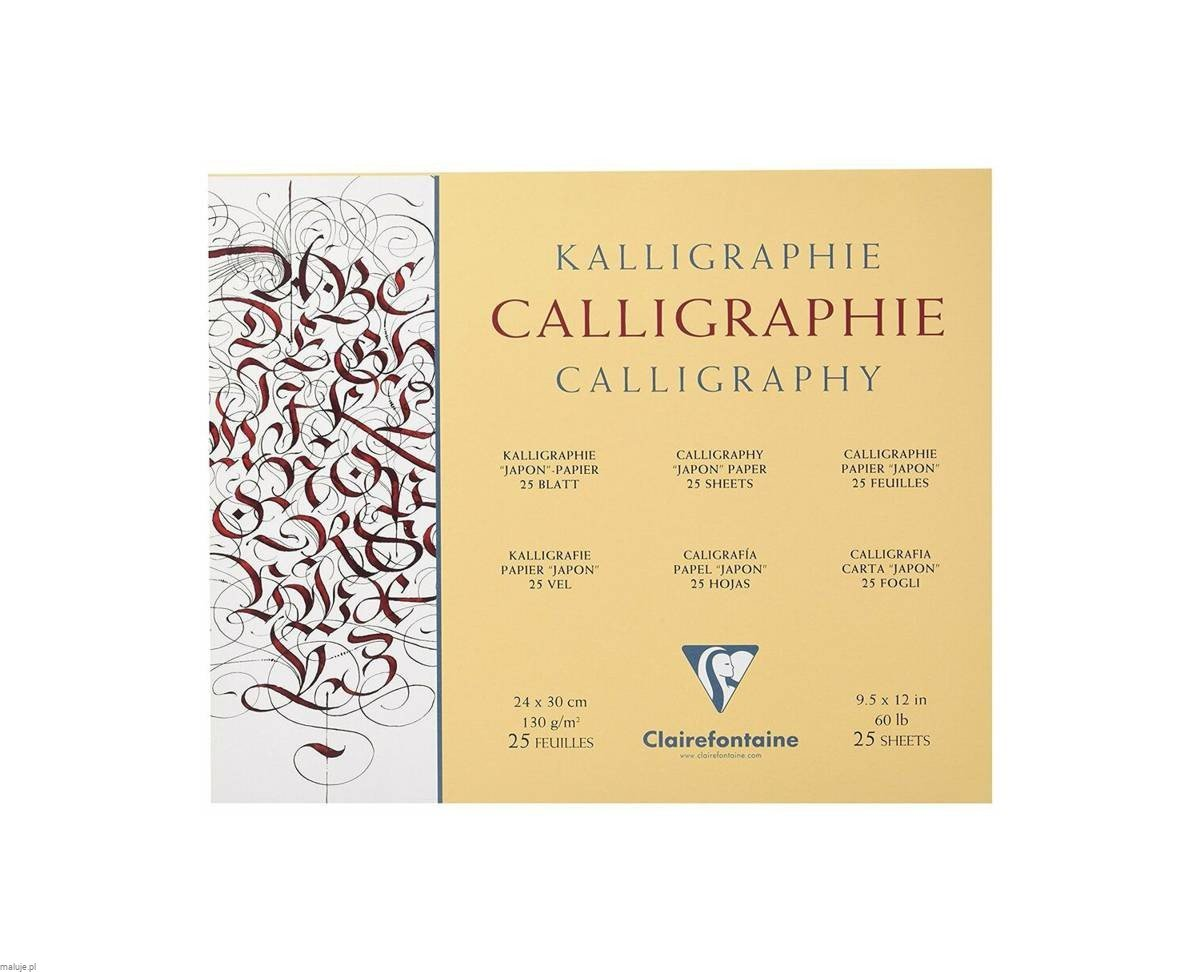 "Calligraphy ""Japon"" paper 130g 25 ark. - blok do kaligrafii"