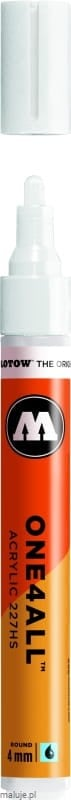 Molotow ONE4ALL 227HS 160 signal white 4mm - marker akrylowy