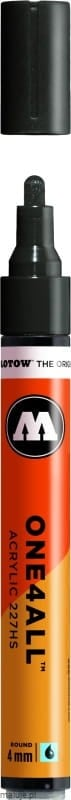 Molotow ONE4ALL 227HS 180 signal black 4mm - marker akrylowy