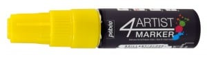 4Artist Marker 8mm 02 YELLOW - marker olejny