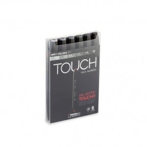 Touch Twin Marker 6 SET [Grey Color]