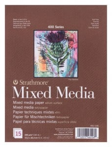 Strathmore 400 series Mixed Media paper 300g 15 ark - blok do technik mieszanych