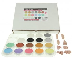 PanPastel 17 Metallic, Pearlescent & Mediums Set + Soft Tools - komplet