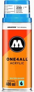 Molotow ONE4ALL SPRAY 400ml #230 shock blue - spray akrylowy